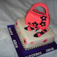 Handbag & Shoes Two Tier Birthday Cake