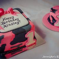 Camo 1st Birthday with Baby Smash Cake