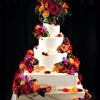 Buttercream & Fresh Flower's Wedding Cake