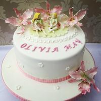 Fairies Christening cake
