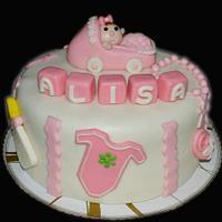 baptism cake by SweetFavorsByPerlita