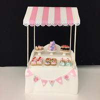 Miniature cake booth