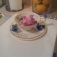 Piggy in a Teacup