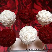 Valentine's Day Rosette Cake Pops