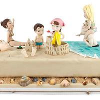 LET'S GO ON THE BEACH - MY CAKE INTERNATIONAL OF BIRMINGHAM 2015