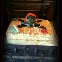 Pirate themed Groom's Cake