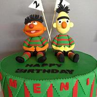 """""""Ernie & Bert Play for the Rabbitohs"""" by Ninetta O'Connor"""