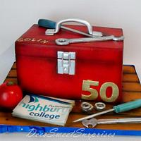 Tool Box cake for a College Lecturer