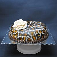 Animal print with roses