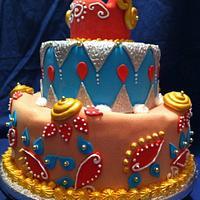 Moroccan wedding cake