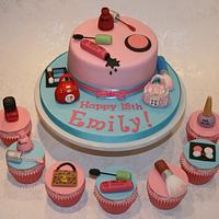 Make up and Paul's Boutique Cake by Amanda's Little Cake Boutique