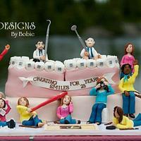 Orthodontics Anniversary Cake