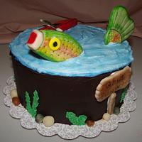 """Mounds Cake"" Gone Fishing"