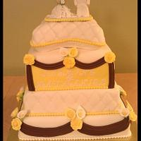 My 1st wedding cake by First Class Cakes