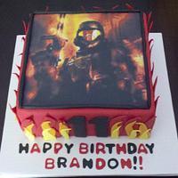 Halo ODST inspired cake