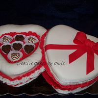 Valentine's Day Candy Box Cake