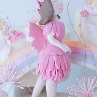 Pastel Fairy Rainbow Cake