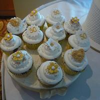 50th Anniversary cake and cup cakes