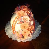 Roses & Butterflies Ball Cake