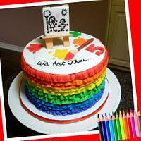 Paint cake