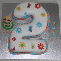 Number two doll cake