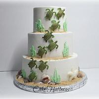 Sea Turtle Wedding Cake