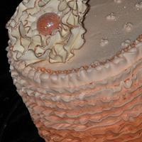 Ruffle Cake by sweetpeacakemom