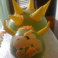 Mario/Bowzer cake