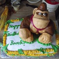 Donkey Kong Birthday Cake