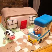 Milkmans Milk Float Cake