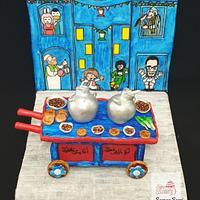 My Modern Bean Cart Cake in the Ramadan Egyptian Cake Collaboration