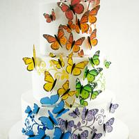 Mariposas multicolores
