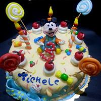 Baby Mickey Candy Cake