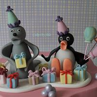 'Pingu' 3rd birthday cake - June 2011
