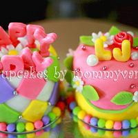 "3"" Birthday Mini Cakes by Vangie Evangelista"