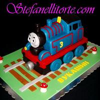 Thomas the train 3D cake