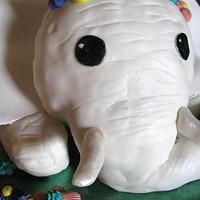 White baby elephant