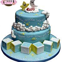 Twinkle, Twinkle, Little Star Christening Cake