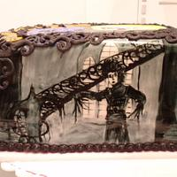 Tim Burton Inspired Cake by Dayna Robidoux