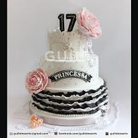 Chanel inspired Sweet 17th Cake