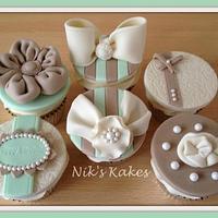Fabric inspired birthday cupcakes