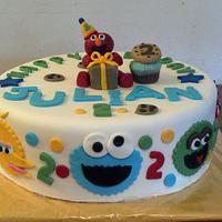 sesame street cake