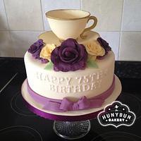 Tea Cup Birthday Cake