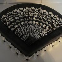 Lace fan cake