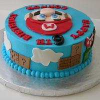 Mario Birthday Cake by Craving Cake