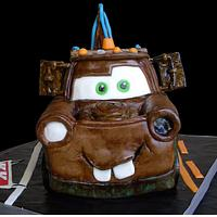 3D Tow Mater Cars Cake
