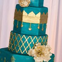 Moroccan inspired wedding cake