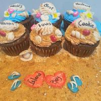 BeachThemed cupcakes