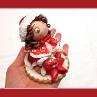 Christmas placeholders with mini doll