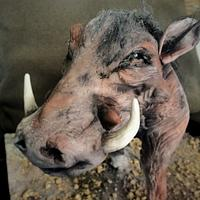 Warthog cake for the World Animal Day Collab